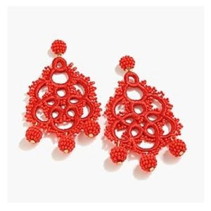 Jcrew beaded and embroidered earrings